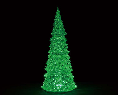 94515 - Crystal Lighted Tree, 3 Color Changeable, Large, Battery-Operated (4.5-Volt) - Lemax Trees