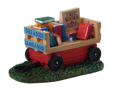 94534 - Book Wagon - Lemax Misc. Accessories