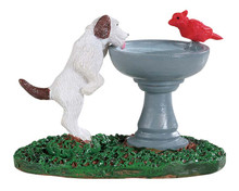 94535 - Bird Bath Dog Fountain - Lemax Misc. Accessories