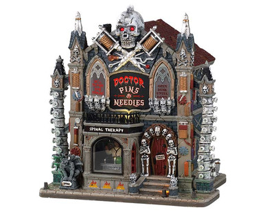 95443 - Doctor Pins & Needles, with 4.5-Volt Adaptor - Lemax Spooky Town Houses