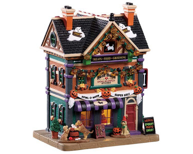 95459 - Best Buds Dog Supply Store - Lemax Spooky Town Houses