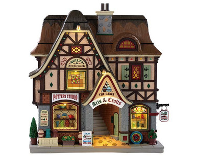 95472 - The Lanes - Arts and Crafts, Battery-Operated (4.5-Volt) - Lemax Facades