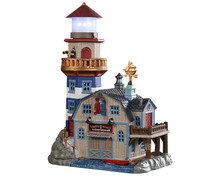95484 - Lobster Shack Lighthouse, Battery-Operated (4.5-Volt) - Lemax Plymouth Corners