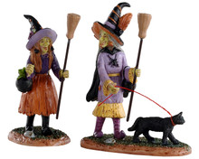 02907 - Witches Night Out, Set of 2 - Lemax Spooky Town Figurines