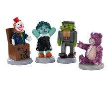 02910 - Terrible Toys, Set of 4 - Lemax Spooky Town Figurines