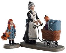 02916 - Nursery Stroll, Set of 2 - Lemax Spooky Town Figurines