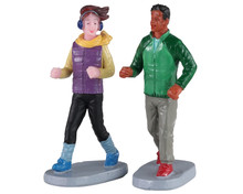 02921 - Autumn Jog, Set of 2 - Lemax Figurines