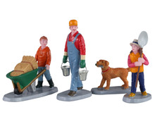 02922 - Morning Chores, Set of 4 - Lemax Figurines