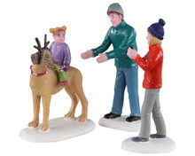 02923 - Rover Plays Rudolph, Set of 3 - Lemax Figurines