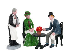 02925 - Café Society, Set of 4 - Lemax Figurines