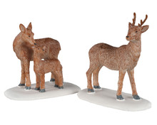 02929 - Deer Family, Set of 2 - Lemax Figurines