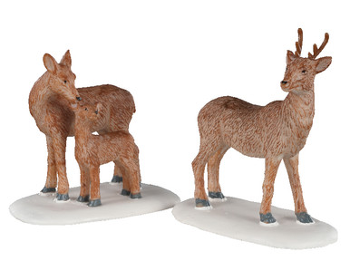 02929 - Deer Family, Set of 2 - Lemax Figurines