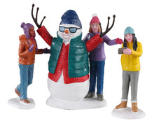 02940 - Snowman Selfie, Set of 3 - Lemax Figurines