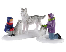 02941 - Future Sled Dogs, Set of 2 - Lemax Figurines