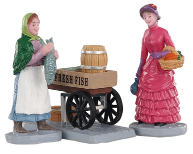02950 - Fresh Fish for Sale, Set of 3 - Lemax Figurines