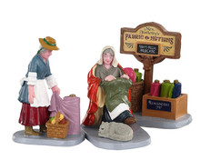 02951 - Fabric Vendor, Set of 3 - Lemax Figurines