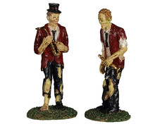 02958 - A Chilling Band of Two, Set of 2 - Lemax Spooky Town Figurines