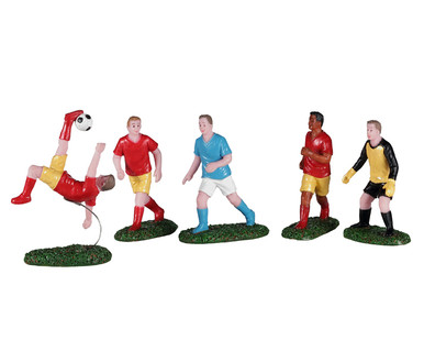 02961 - Playing Soccer, Set of 5 - Lemax Figurines
