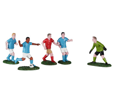02962 - Soccer Practice, Set of 5 - Lemax Figurines