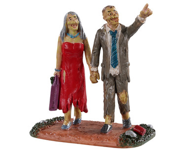 02963 - Graveyard Partygoers - Lemax Spooky Town Figurines