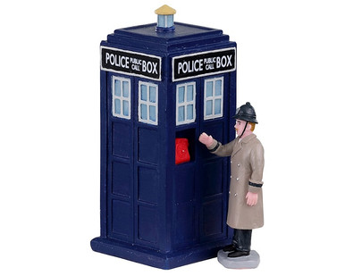03509 - Police Call Box, Set of 2 - Lemax Table Pieces