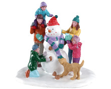 03511 - Snowman Teamwork - Lemax Table Pieces