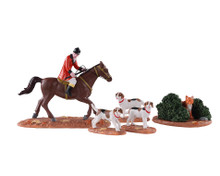 03530 - Fox Hunt, Set of 5 - Lemax Table Pieces