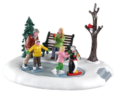 93424 - Beginner Skaters - Lemax Table Pieces