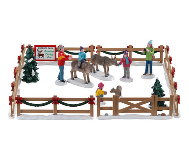 93434 - Reindeer Petting Zoo, Set of 17 - Lemax Table Pieces