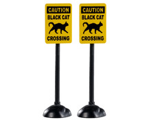 04712 - Scary Road Signs, Set of 2 - Lemax Spooky Town Accessories