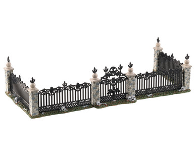 04713 - Bat Fence Gate, Set of 5 - Lemax Spooky Town Accessories