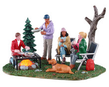 04728 - Camping Couples, Battery-Operated (4.5-Volt) - Lemax Table Pieces