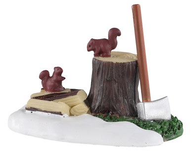 04730 - Axe and Logs - Lemax Misc. Accessories