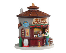 04745 - The Stout Shack, Battery-Operated (3-Volt) - Lemax Table Pieces