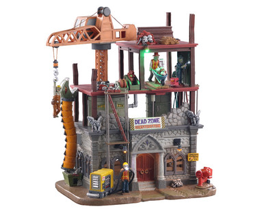 05604 - Dead Zone Construction Site, with 4.5-volt  Adaptor - Lemax Spooky Town Houses