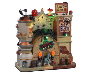 05606 - Spider Cider House, with 4.5-volt Adaptor (AA) - Lemax Spooky Town Houses