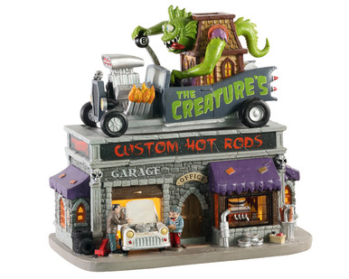 05611 - The Creature's Custom Hot Rod Shop - Lemax Spooky Town Houses