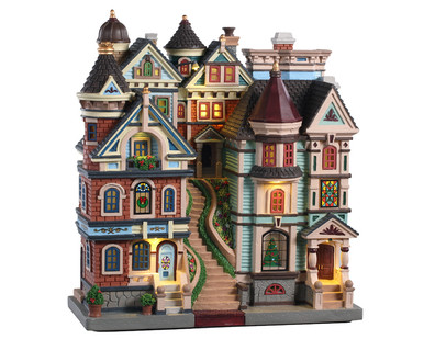 05617 - Houses on a Hill, Battery-Operated (4.5-Volt) - Lemax Facades