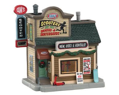 05639 - Sam's Scooter Shop - Lemax Harvest Crossing