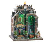 95441 - Haunted Library, with 4.5-volt Adaptor - Lemax Spooky Town Houses