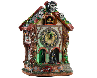 95454 - The Cursed Cuckoo Haus, with 4.5-volt Adaptor - Lemax Spooky Town Houses