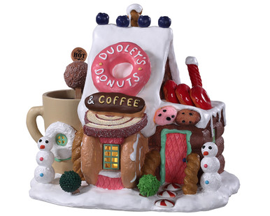 95529 - Dudley's Donut Shop, Battery-Operated (4.5-Volt) - Lemax Sugar N Spice Houses
