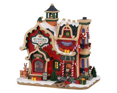 95530 - St. Nick's Elf Academy, Battery-Operated (4.5-Volt) - Lemax Santa's Wonderland