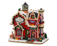 95530 - St. Nick's Elf Academy, Battery-Operated (4.5-Volt) - Lemax Santa's Wonderland