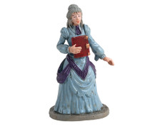 12008 - Miss Terry the Bookstore Owner - Lemax Spooky Town Figurines