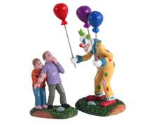 12009 - Creepy Balloon Seller, Set of 2 - Lemax Spooky Town Figurines