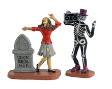12013 - Undead Groove, Set of 2 - Lemax Spooky Town Figurines