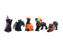 12014 - Halloween Cats, Set of 5 - Lemax Spooky Town Figurines