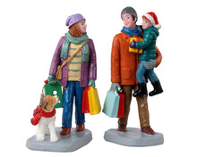 12016 - Holiday Shoppers, Set of 2 - Lemax Figurines