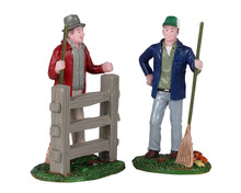 12017 - Friendly Neighbors, Set of 2 - Lemax Figurines